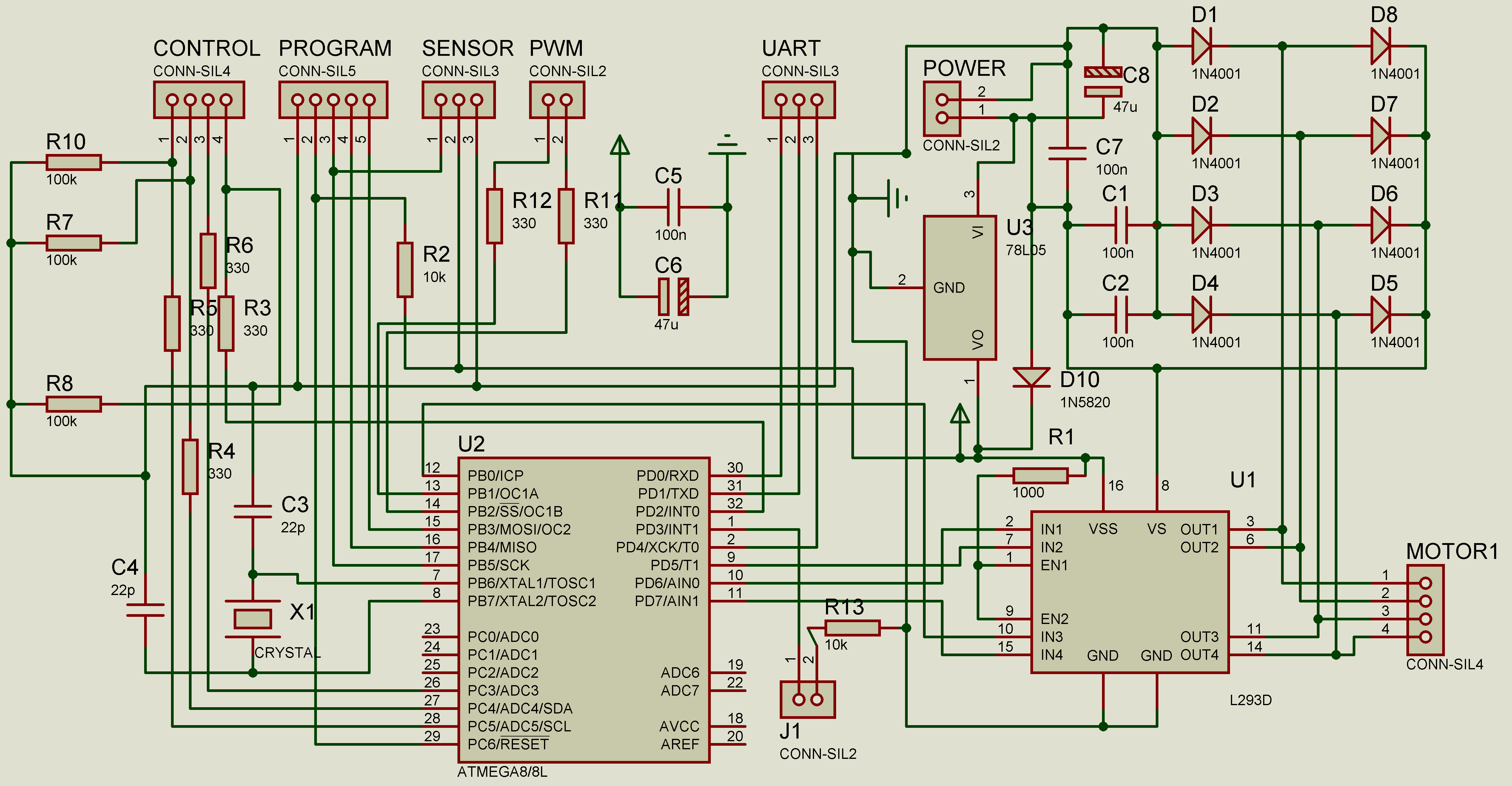 схема подключения шагового двигателя принтера